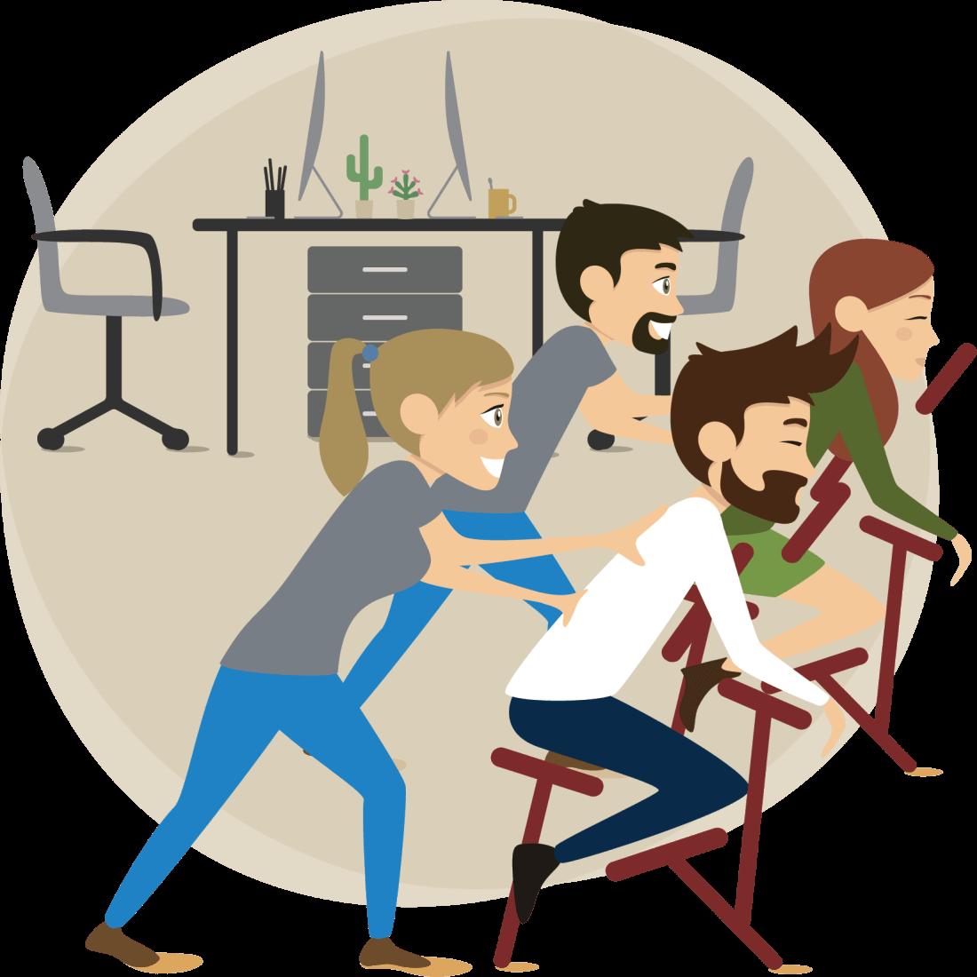 Massage sur chaise des salariés