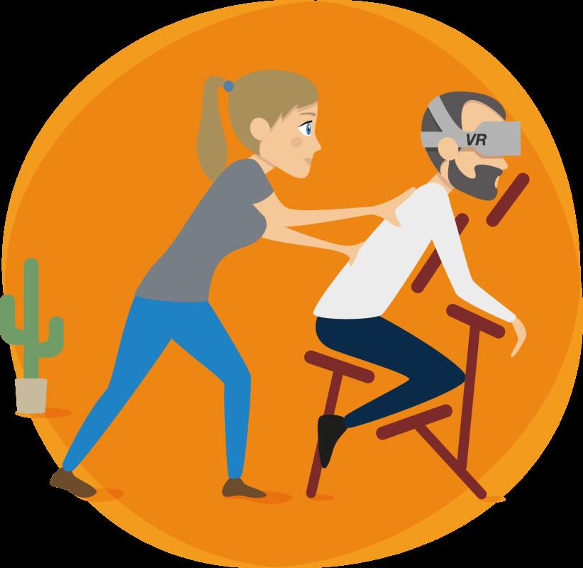 Massage réalité virtuelle (VR)